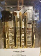 Sonia Kashuk Tooled Over 5 Piece Travel Brush Set W/ Case