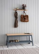 NQP GARDEN TRADING Clockhouse Hallway Bench In Oak Beech Painted Charcoal Ref 2