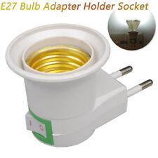 E27 LED Wall Plug-in Screw Base Round Light Bulb Lamp Socket Holder Adaptor W