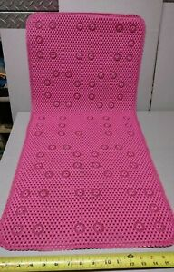 Non Slip Vinyl Bathtub Mat w/  plastic grippers on Backside - Can be Hung to dry