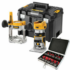 """DeWalt DCW604NT 18V Brushless Router Trimmer with 1/4"""" 12 Piece Cutter Set"""