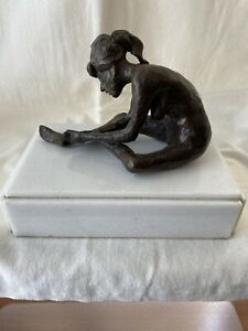 "Roger Kuntz, Sculpture,  H 4"" X L 7"" X W 3.5"", Bronze Brown Patina"