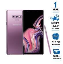 New Samsung Galaxy Note 9 512GB N9600 Dual Sim Unlocked 2018 - Purple
