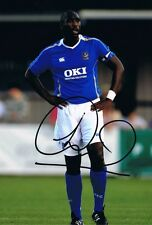 Firmato Sol Campbell Portsmouth Autograph Foto INGHILTERRA ARSENAL Newcastle
