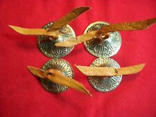 ZILLS - BRASS FINGER CYBBALS , ( 2 ) SETS , SOFT LEATHER TIES