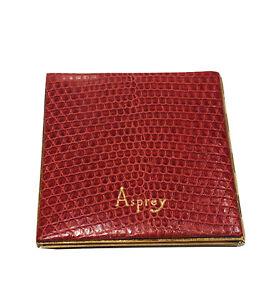 Vintage ASPREY Red Lizard Travel Mini Photo Album