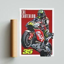 More details for cal crutchlow poster motogp motorsport a4 a3 a2 wall art bsb