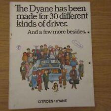 CITROEN DYANE 4 435cc 6 602cc UK Market Novelty Cartoon Brochure 1973 - 1974