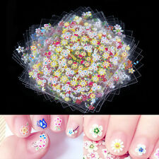Pack of 50 Sheets 3D Design Nail Art Sticker Tips Decal Flower Manicure Stickers