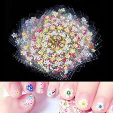 Lot de 50 Feuilles 3D Design Nail Art Stickers Conseils Decal Fleur Manucure Autocollant