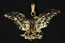 "10k Yellow Gold ""Eagle"" Pendant -  Gently Used - J285A"