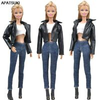 1 Set Doll Fashion Top Handmade Coat Outfits for Barbie Dollhouse Accessories