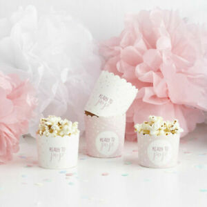 Ready To Pop, Baby Shower Party / Gender Reveal, Pink Baby Popcorn / Food Cups