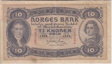 Norway banknote P8c-6257 10 Kroner 1943, F   We Combine