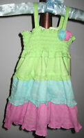 New PENELOPE MACK Size 12 Months Multi-Color Smocked Dress with Diaper Cover
