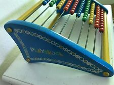 PLAYSKOOL VINTAGE ABACUS Colorful Frame Wood Bead ACCOUNTANT GIFT Decor Toy