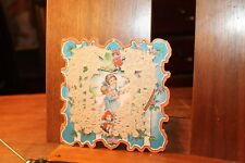 ca. 1890's Antique Valentine's Day Card Die Cut Layered Lace Whitney Made