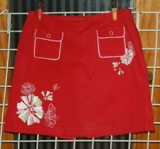 SIZE 14W LIZ GOLF RED, PINK, WHITE AND GREEN SKORT