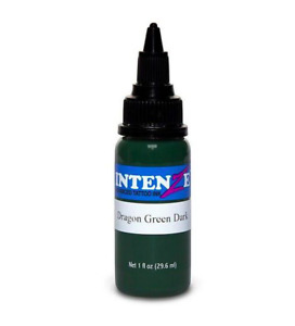 INTENZE Tattoo Ink Japanese Dragon Set Colors 1 oz By Single Bottle Authentic