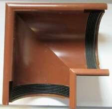 Inefa PVC-Rinnenwinkel NW 150 90° Wulst außen Braun 8024 für Regenrinne Dachrinn