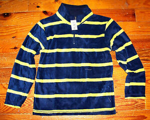 New! Boys THE CHILDREN'S PLACE Gray Red Blue Yellow Fleece Stripe PullOver Shirt