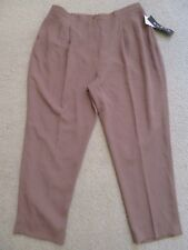 New Women's Focus 2000 by Charles Glueck Carmel Brown Dress Pants Plus Size 24W