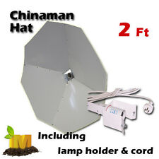 "2"" Chinaman Hat Shade with lampholder & cord,  for hydroponics lamp  upto 1000w"