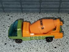 1969 HOT WHEELS REDLINE THE HEAVYWEIGHTS CEMENT CO TRUCK GREEN & ORANGE