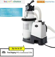 Intex Krystal Clear 1200 - 3000 GPH Above Ground Swimming Pool Sand Filter Pump