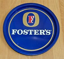 More details for fosters lager circular beer tray -  pub bar home ale beer bbq carry