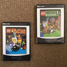 2 LEGO PC Ordinateur Jeux: équipe Alpha & ROCK RAIDERS (1990 S, Comme neuf, Minecraft)