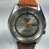 Vintage Seiko Automatic Movement Day, Date Dial Mens Analog Wrist Watch AB259