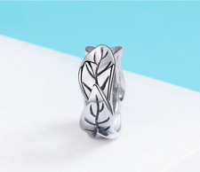 Tree Leaves Spacer Charm 100% 925 Sterling Silver Pandora