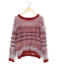 Women's Pullover Sweater Casual College Wind Hedging Mohair Wine Color S1501