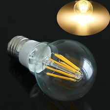 E27 8W Filament LED Bulb COB Warm White Light Bright Glass Globe Lamp AC 85-265V