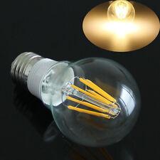 E27 8W Filament LED Bulb COB Warm White Light Bright Glass Globe Lamp AC 85-265V