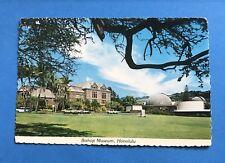 Vintage Post Cards Postcard Bishop Museum Honolulu Hawaii 1980