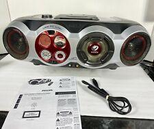 Philips az2555 CD Soundmachine Boombox AM/FM USB PC Link Gameport Woox ~ TESTED