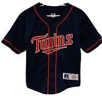 Vintage Russell Minnesota Twins 10/12 Youth Child Baseball Jersey Blue Stitched