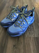 Merrell Womens Size 7 Capra Bolt Blue- Purple Waterproof Hiking Trail Shoes