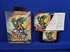 Sega Mega Drive ALISIA DRAGOON Genuine Game *x Boxed COMPLETE PAL