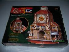 Wrebbit Puzz 3D Bavarian Clock Puzzle 404 Pieces Real Working Clock New!