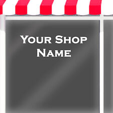 CUSTOM SHOP NAME VINYL LETTERING DECAL / your personalised shop name for windows