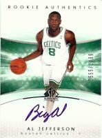 Al Jefferson 2003-04 SP Authentic RC Rookie Autograph Celtics #173 0555/1499