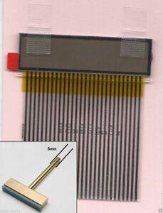 CLOCK LCD for JAGUAR XJ6 XJS X300 DISPLAY GLASS & RIBBON CABLE for PIXEL REPAIR