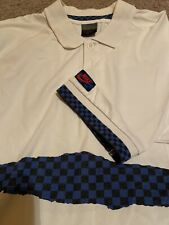 New listing RARE Vintage Nike John McEnroe Tennis Polo Shirt M 90s Blue/Black Checker