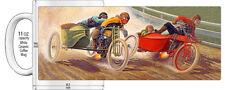 "HARLEY INDIAN 1920's SIDECAR RACE MOTORCYCLE ""HIGH DETAILED"" IMAGE COFFEE MUG"