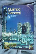 Libro Química General. M.R. Fernández y J.A. Fidalgo. General Chemistry Book