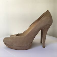 Nude Suede Stiletto High Heels from Dune Size 5 (UK) 38 (Eu)