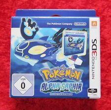 Pokemon Alpha Saphir Limitierte Edition mit Steelbook, 3D Nintendo 3DS Spiel Neu